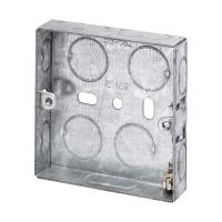 16MM 1 GANG METAL BACK BOX