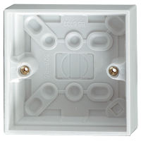 25MM 1 GANG PLASTIC SURFACE BOX