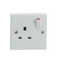 13AMP 1 GANG SWITCHED SOCKET SINGLE POLE