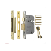 "ERA VISCOUNT 5 LEVER SASHLOCK 2.5"" BRASS (CARDED)"