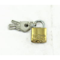 MARKUP 20MM SOLID BRASS TRI-CIRCLE PADLOCK