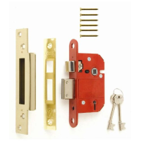 "ERA FORTRESS 5 LEVER SASHLOCK 2.5"" BRASS (CARDED)"