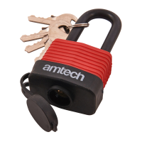 AMTECH 40MM LONG SHACKLE WEATHERPROOF PADLOCK