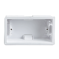 2 GANG DRY LINING PLASTIC BACK BOX