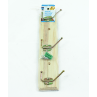MARKUP 3 FOLDING HOOK PINE COAT RACK