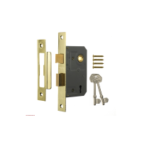 ERA 3 LEVER SASH LOCK 63MM BRASS (CARDED)