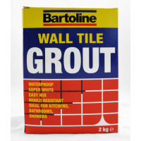 BARTOLINE 2KG WHITE WALL & TILE GROUT