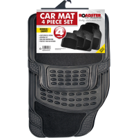 ROADSTER 4PC CAR MAT RUBBER SET (WITH CARPET)