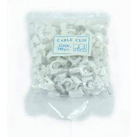 MARKUP 100PC 12MM WHITE CABLE CLIPS
