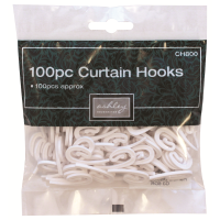 BLACKSPUR 100PC CURTAIN HOOKS
