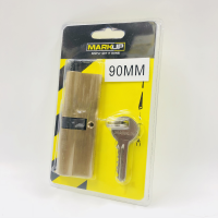 MARKUP 90MM BRASS CYLINDER LOCK