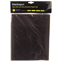 BLACKSPUR 10PC WET & DRY ABRASIVE/ SAND PAPER