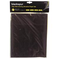 BLACKSPUR 10PC WET & DRY ABRASIVE/ SAND PAPER