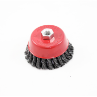 """RECKTO 4"""" TWIST KNOTTED WIRE CUP BRUSH"""