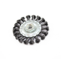"""RECKTO 4"""" KNOTTED WIRE WHEEL - M14 FITTING"""