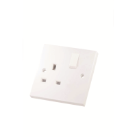 SELECTRIC 13AMP 1 GANG SWITCHED SOCKET SINGLE POLE(4406)