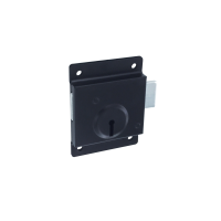 SECURIT PRESS LOCK BLK 75MM