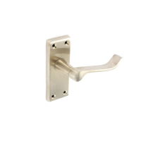 SECURIT BRUSHED NICKEL SCROLL LATCH HDLS 115MM
