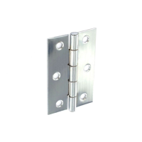 SECURIT STEEL BUTT HINGES POLISHED CHROME PLATED 75MM