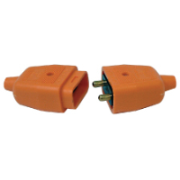 MASTERPLUG 2 PIN 10AMP CONNECTOR ORANGE