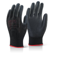 BEESWIFT LARGE- BLACK PUGGY WORK GLOVES (10 PAIRS)