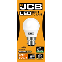 JCB GOLF LED 3w (25w) 250lm WARM WHITE B22- 3000K (W)