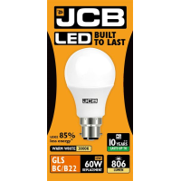 JCB GLS LED 10w (60w) 806lm WARM WHITE B22- 3000K (W)