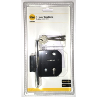 YALE ESSENTIALS 64MM 5 LEVER DEAD LOCK- CHROME