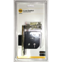 YALE ESSENTIALS 64MM 5 LEVER DEAD LOCK- BRASS