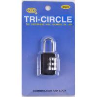MARKUP 25MM COMBINATION TRI-CIRCLE PADLOCK