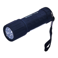 AM-TECH 9 LED RUBBER MINI TORCH + BATTERIES (W)
