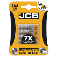 JCB 4 PACK AAA SUPER ALKALINE BATTERIES 1.5V