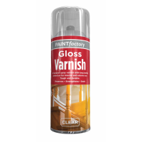 PAINT FACTORY 400ML M/PURPOSE SPRAY PAINT- CLEAR GLOSS