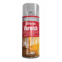 PAINT FACTORY 400ML SPRAY PAINT- CLEAR GLOSS VARNISH