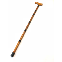 MARKUP BROWN WOODEN WALKING STICK- BUBBLE STYLE