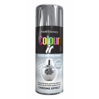 COLOUR IT  CHROME EFFECT GLOSS 400ML SPRAY PAINT