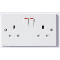 SELECTRIC 13AMP 2 GANG SWITCHED SOCKET