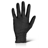 BEESWIFT XLARGE- BLACK DISPOSABLE NITRILE GLOVES PF