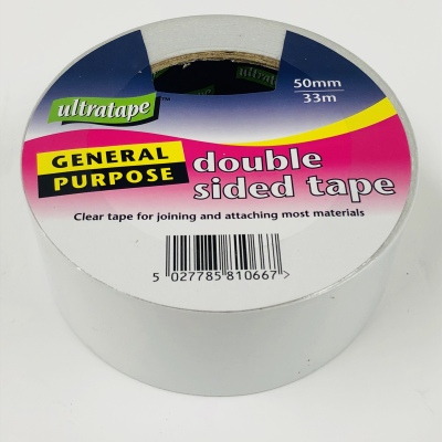 2x Quality Branded Ultratape 50mm Double sided Tape New 10 meters Long RRP£11.98